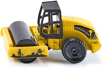 Modellauto NEU ° Blister Siku 0895 Straßenwalze gelb//schwarz