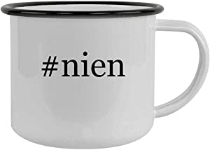 #nien - 12oz Hashtag Camping Mug Stainless Steel, Black