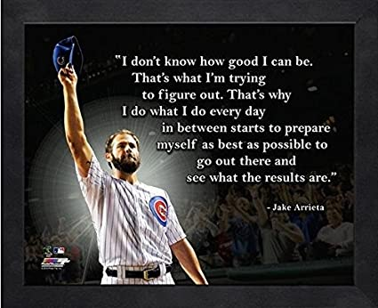 Amazoncom Jake Arrieta Chicago Cubs Mlb Pro Quotes Size 17 X 21