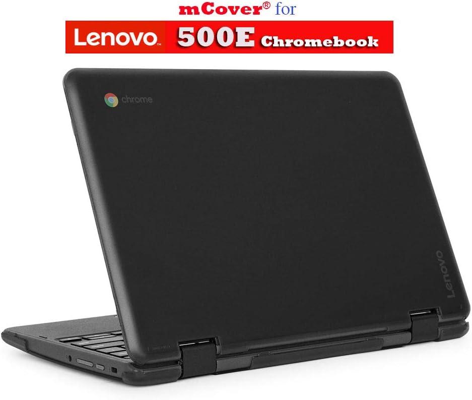"""mCover Hard Shell Case for 2018 11.6"""" Lenovo 500E series 2-in-1 Chromebook Laptop (NOT fitting Lenovo N21 / N22 / N23 /100E / 300E / FLEX 11 Chromebook) (C500E BLACK)"""