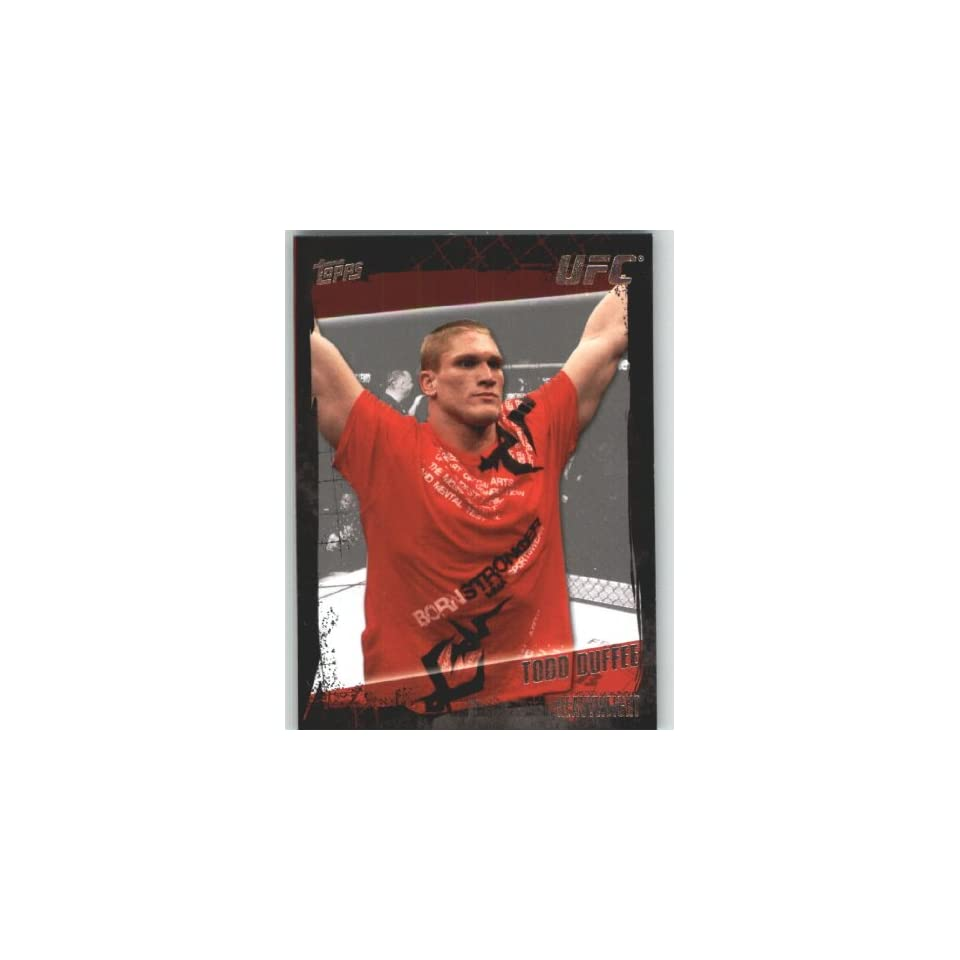 2010 Topps UFC Trading Card # 33 Todd Duffee (Ultimate