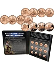Complete 2009 Lincoln Mint Mark Collection- 4 NEW Designs!