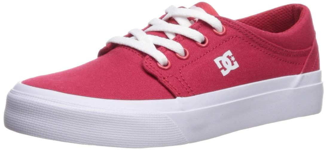 DC Boys' Trase TX Skate Shoe, RED, 1 M US Little Kid