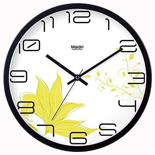 HhGold Reloj de Pared Sin marcar Número Cuarzo Reloj de Pared Sala ...
