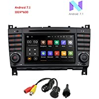 MCWAUTO For Mercedes Benz W209 W203 C320 C350 In Dash GPS Navigation Bluetooth Autoradio 7 Inch Android 7.1 OS Car Radio Capacitive Touch Screen Car Stereo DVD Player