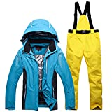 Joddie Haha outdoor winter ski suit men and women couple models ski jackets and ski pants suit thick warm waterproof windproof 11 XL