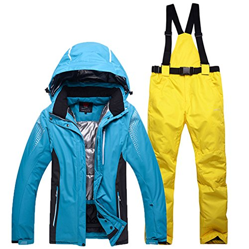 Joddie Haha outdoor winter ski suit men and women couple models ski jackets and ski pants suit thick warm waterproof windproof 11 XL by Joddie Haha Coat