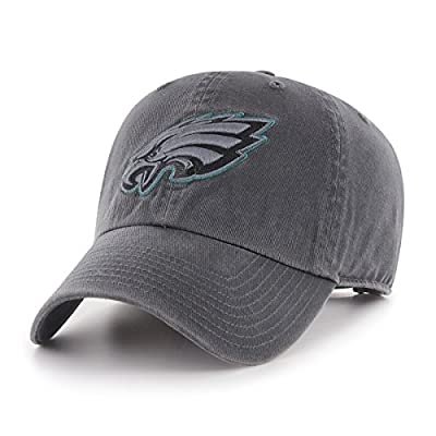 OTS NFL Philadelphia Eagles Men's Challenger Adjustable Hat, Dark Charcoal, One Size