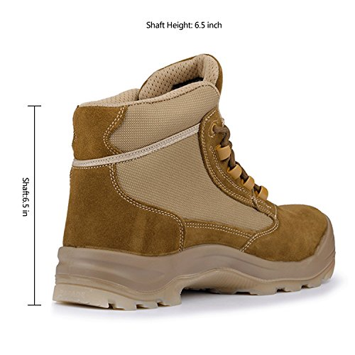 Men's Cowhide Suede Waterproof Outdoor Work Duty Boots Safety Toe Puncture Resistance Outsole Size 10 by ORADAE (Image #6)