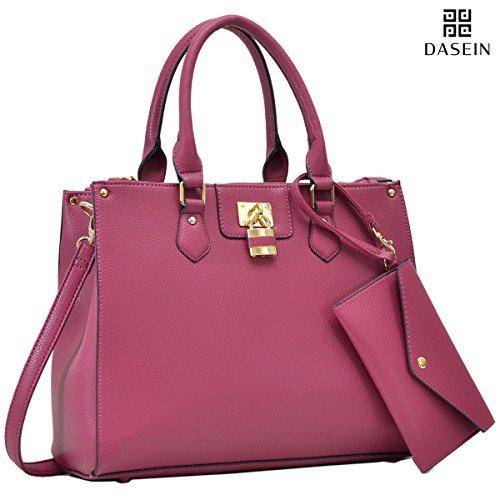 Womens Fashion Handbags Tote Purses Shoulder Bags Top Handle Satchel Purse Set 2pcs