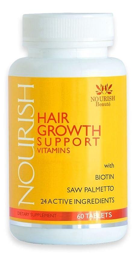 Nourish Beaute Nourish, crecimiento de tu cabello con vitaminas, biotina y bloqueadores de DHT