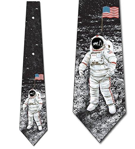 Astronaut Ties Moon Landing Necktie