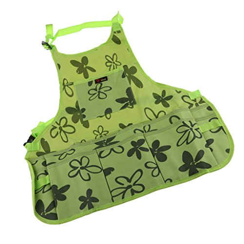 Fityle Utility Work Apron Tool Pocket Woodworking Gardening Craft Mechanic Woodshop Pockets Aprons Green/Brown Select - Green, 60x65x2cm by Fityle (Image #7)