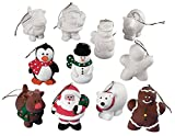 Design Your Own Ceramic Christmas Character Ornaments - Crafts for Kids & Design Your Own 12 count/2 pcs. per style.