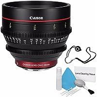 Canon CN-E 24mm T1.5 L F Cine Lens (International Model no Warranty) + Deluxe Cleaning Kit + Lens Cap Keeper 6AVE Bundle 2