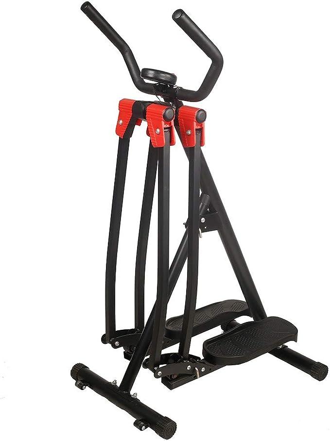 Home Gym Fitness,Body Trainer Stepper Cardio Workout Training,Compact Elliptical Air Glider Machine Fiudx Folding Air Walk Trainer Elliptical Machine Glider w//LCD Monitor