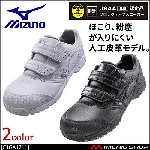 ミズノ 安全靴 プロテクティブスニーカー C1GA1711 オールマイティCS マジックタイプ Color:1ホワイト 29.0 B07BK1FR6J 29