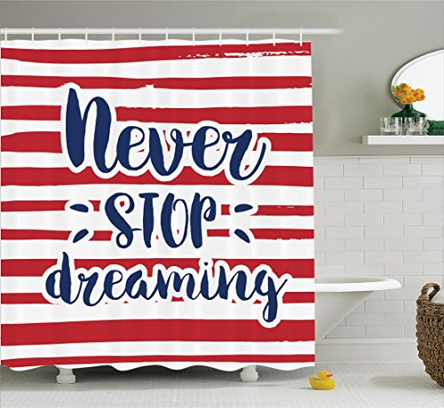 Quotes Decor Shower Curtain Set
