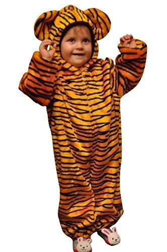 Tiger-Kostüm, ZO13, Gr. 110-116, für Kinder, Tiger-Kostüme für Fasching Karneval Fasnacht, Kleinkinder-Karnevalskostüme, Kind