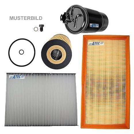 Paquete para inspección: 1x Filtro de aceite 1x Filtro de aire 1x Filtro de habitáculo