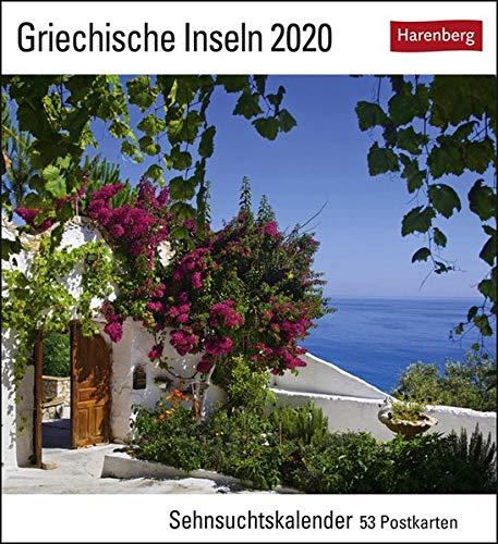Griechische Inseln Postkartenkalender 2020. Wochenkalendarium. Blockkalender. Format 16 x 175 cm