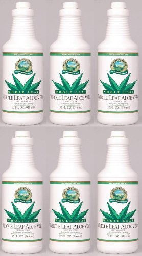 Naturessunshine Aloe Vera Whole Leaf Herbal Food Supplements 32 fl. oz (Pack of 6) by Nature's Sunshine