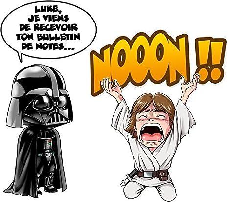Un p/ère Qui craint Luke Life Episode I T-Shirt Noir Star Wars parodique Luke Skywalker et Dark Vador Parodie Star Wars