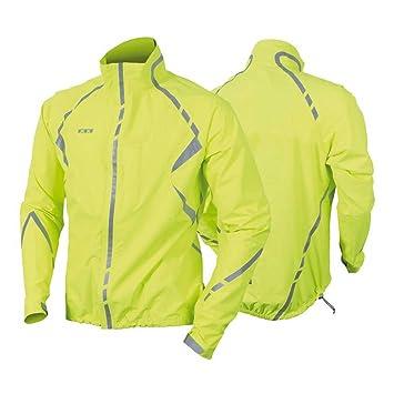 7c6f541f5 Wowow Commuter Bike Rain Jacket Yellow XL Reflective Stripes: Amazon ...