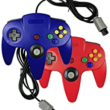 Bowink Game gaming pad console Controller For N64 (Red and Blue)