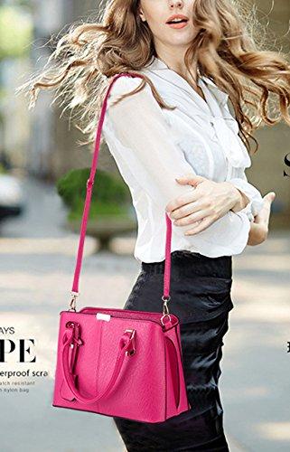 al mujer Seaoeey para Medium rosa Rosa hombro Café Bolso r4Iwr