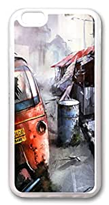 iphone 6 4.7inch Case iphone 6 4.7inch Cases Ruined City TPU Rubber Soft Case Back Cover for iPhone 6 Transparent