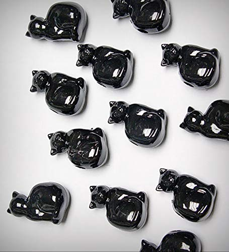 Lot of 25 Black Cats Shaped Pony Jewelry Making Beads Made n USA Halloween Crafts Jewelry Costume Kids - DIY for Handmade Bracelet Necklace Craft Supplies ()