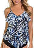 Magicsuit Women's Sea Glass Rita Tankini Top Blue 16