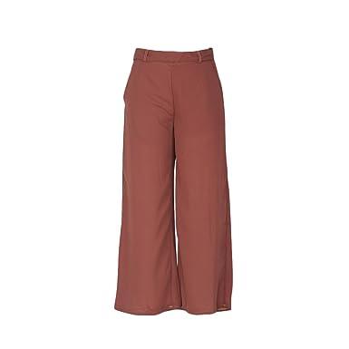 4c7e5b2d9d16 VERYCO Womens Baggy Wide Legged Ladies Trousers Pants Flared Palazzo  Leggings Plus Size (XL UK 12-14