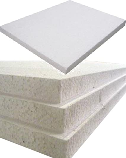 12 Large White Rigid Polystyrene Foam Sheets Boards Slabs - Size 1200mm  Long x 600mm Wide x 25mm Thick / 4ft x 2ft - EPS70 SDN Floor Wall  Insulation
