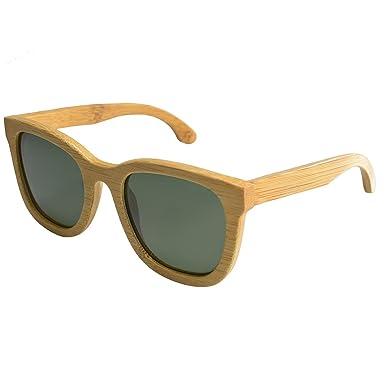 Halloween Geschenke G003A Unisex Mode Holz Sonnenbrillen für Männer und Frauen mit Polarized-Gläser (Black sandalwood) gE44QT