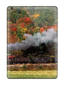 Crystal R Martin Ipad Air Well-designed Hard Case Cover Steam Train With Red And Black Cars Protector by supermalls