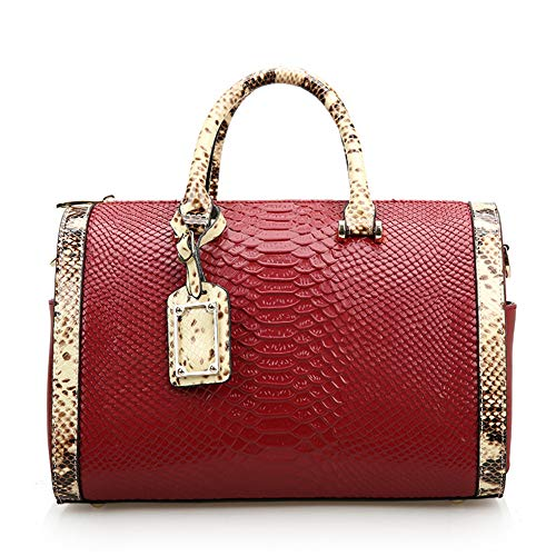 Lunga Snake Bag Spalla red Fornito Donna Borsa Red Una Accessori Ffqng Con Texture Pelle Tracolla Viene In Da Metallo Messenger 8q0Ba