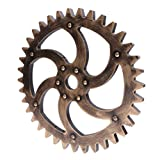 gears art - Jili Online 29cm Rustic Wooden Wall Hanging Steampunk Gear Home Shop Art Craft Decor #C