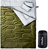 Ohuhu Double Sleeping Bag With 2 Pillows And Carrying Bag, Lightweight Waterproof 2 Person Adult Sleeping Bags For Camping, Backpacking, Hiking