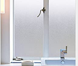 Coavas Static Cling Window Film Privacy Frosted Glass Film for Office Bedroom Bathroom (17.7-by-78.7 Inch)