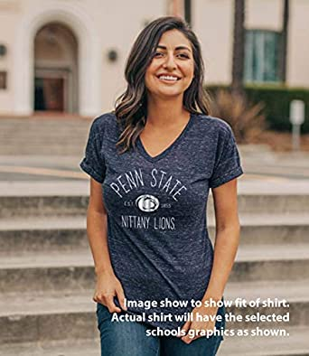 Elite Fan Shop NCAA Womens T Shirt Confetti Dark Heather