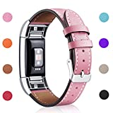 walk in shower pictures Hotodeal Band Compatible Fitbit Charge 2 Replacement Bands, Classic Genuine Leather Wristband Metal Connectors, Fitness Strap Women Men Small Large Pink