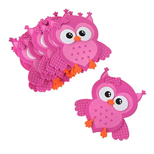 Homeford Foam Owl Animal Cutouts, 4-Inches, 10-Count