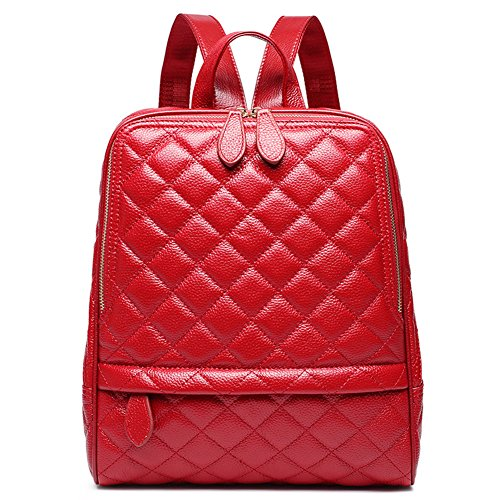 à Rouge dos Nikauto femmes en cuir sac pour T65xqwS