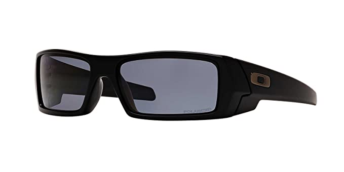 Mens Oakley Sunglasses  oakley mens gascan sunglasses (oo9014) black matte/grey plastic polarized 61mm
