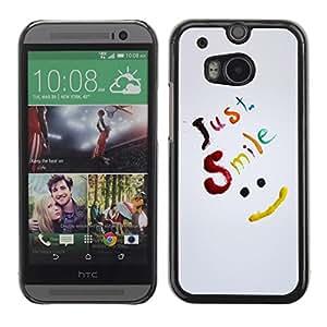 Be Good Phone Accessory // Dura Cáscara cubierta Protectora Caso Carcasa Funda de Protección para HTC One M8 // Just Smile Be Happy