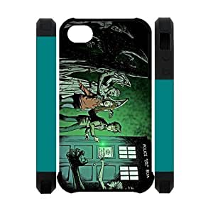 Apple Iphone 4S/4 Case Cover Dual Protective Polymer Cases Angel Doctor Who Tardis Coolest Artsy by ruishername