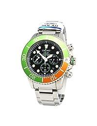 Seiko Mens Chronograph Divers Analog Sport Solar Watch NWT SSC237P1