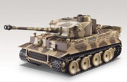 Amazing Tech Depot 1:24 RC German Tiger Battle Tank With Sound (Desert Camo)